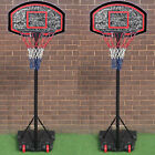 Basketball Net Set Freestanding Hoop Backboard Adjustable Stand Portable Wheels