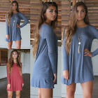 Fashion Women's Casual Long Sleeve Evening Party Cocktail Mini Dress NEW