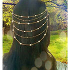 Pearl beads tassels Women Hair Clip Comb Cuff Headdress Headband Head Band Chain