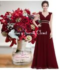 ATHENA Cranberry Gold Beaded Grecian Evening Cruise Bridesmaid Dress UK 8 - 20