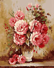Pink Full Blooming Roses In Urn Beautiful Needlepoint Canvas H98
