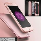 360° Full Hybrid Tempered Glass Acrylic Hard Case Cover For iPhone 6 6S 7 Plus