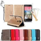 For Huawei Honor 5X Mate 7 Mini Glass Film 3D Embross PU Leather Cover Case Flip