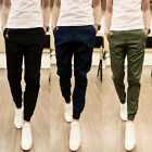 2017 Mens Cotton Trousers Casual Jogger Sportwear Work Cargo Pants Jeans New