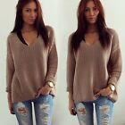 Fashion Women Long Sleeve Knitwear Jumper Cardigan Long Coat Jacket Casual