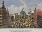 Currier and Ives Vintage Reproduction Giclee Print/Poster #3 Broadway, New York