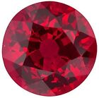 Natural Extra Fine Rich Vivid Red Ruby - Round Diamond Cut - Mozambique - AAA+ G