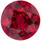 Natural Extra Fine Rich Vivid Red Ruby - Round Diamond Cut - Mozambique - AAA G