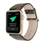 Vintage Folk National style Leather Watch band Strap Loop for Apple iWatch watch