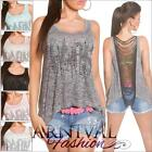NEW SEXY high low SLEEVELESS fringe TOPS for girls fashion S M L XL WOMENS SHIRT