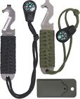 Military Paracord Cutting Survival Pry Tool