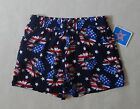 NEW Stars & Stripes Daisies Navy Blue Red Patriotic July 4th Girls Shorts Sz 4T