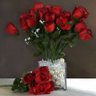 12 bushes - 84 Silk BUDS ROSES Wedding FLOWERS Bouquets Supply for Centerpieces