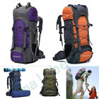 Mens 60L Waterproof Hiking Camping Travel Backpack Pack Knapsack Rucksacks HOT