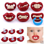 Prank Halloween Baby Teeth Fake Pacifier Orthodontic Silicone Nipple Lip Costume