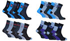 Soxinnabox - 6 Pack Mens Soft Colorful Pattern Blue Black Crew Socks in Gift Box