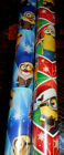 MINIONS CHRISTMAS WRAPPING PAPER 20 SQ FT AMERICAN GREETINGS Blue / Red