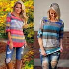Fashion Women Loose T-Shirt Blouse Long Sleeve Casual Tops Cotton Blouse LOT