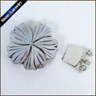 Flower Mother of Pearl Shell Box Clasp Jewelry Findings Toggle Clasp Jump Rings