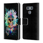 OFFICIAL RIZA PEKER SKULLS 2 LEATHER BOOK WALLET CASE COVER FOR LG PHONES 1