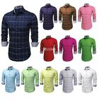 COOFANDY Men Long Sleeve Solid Loose Tops Casual Cotton Plaid Shirts DZ88