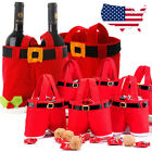 Lot Christmas Xmas Holiday Santa Pants Wine Candy Bag Kids Gift Party Decoration