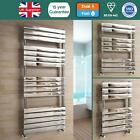 COLTON CHROME BATHROOM FLAT PANEL STRAIGHT DESIGNER HEATED TOWEL RAIL RADIATOR