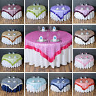 Embroidered Organza TABLE OVERLAYS Wedding Catering Event...