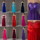 Women's Dresses Bridesmaid Evening Party Formal Prom Dress Gown In Stock