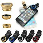 Universal 3/1 Clip On Fish Eye Wide Angle Macro Lens for iPhone 7 Android (G)