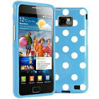 2xSTYLISH POLKA DOTS CASE COVER FOR SAMSUNG GALAXYS2 i9100 FREE SCREEN PROTECTOR