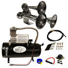 Loud 152dB Chrome Train Air Horn Sound  With 1 Gal Tank And 150 PSI Compressor