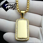 """18-30""""MEN Stainless Steel 1.5mm Gold Box Chain Necklace ICED"""