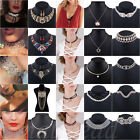 Luxury Ladies Charm Jewelry Pendant Chain Crystal Choker Chunky Necklace Gold