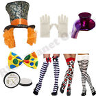 MAD HATTER ALICE IN WONDERLAND FAIRY TALE FANCY DRESS COSTUME ACCESSORIES