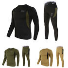 Set Men Winter Warm Long Sleeve Thermal Underwear Top Bottom Pants Tactical