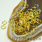8x8mm Gold-Plated Jump Ring 80pcs (DFD84)a