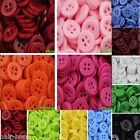 100-500pcs Assorted mixed Small Multi-color buttons Bulk Round Sewing DIY Craft