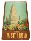 "Vintage 1950's ""Budh Gaya Visit India"" Travel Poster 24"" x 38"" ^ No. AC 170"