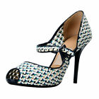 "Salvatore Ferragamo ""Philippa"" Leather High Heel Pumps Shoes Sz 7.5 8 8.5 9 B"