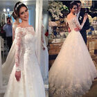 New Wedding Dress Lace Bridal Gown Custom Size: 6 8 10 12 14 16 18+++
