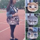 Fashion Womens Girls 3D Cat Head Face Animal Tote Bag Handbag Shoulder Bag Purse
