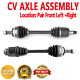 Front Pair CV Axle Assembly for ISUZU OASIS 96-99