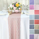 "12"" x 108"" Floral Pattern Lace Table Runners Wedding Party Dinner Table Linens"
