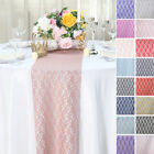 """12"""" x 108"""" Floral Pattern Lace Table Runners Wedding Party Dinner Table Linens"""