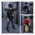 Children Girls Coats And Jackets Boys PU Casual Turndown Collar Jacket Clothes