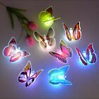 20PC Colorful Changing Butterfly LED Night Light Lamp Home Party Desk Wall Decor