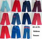 Children's vintage trousers ages 1-4 retro new old stock flares 60's 70's denim