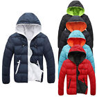 HOT Men's Slim Warm Jacket Coat Hooded Winter Velvet Thick Parka Overcoat Hoodie