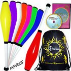 Henry's Delphin Juggling Club set - 3 juggling Clubs +CLUB juggling DVD + Bag